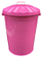 miniatuur 13 - 90L LARGE COLOURED METAL BIN TRASH CAN DUSTBIN WASTE HORSE ANIMAL FEED WITH LID