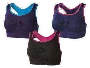 Bz ) Crivit sans Couture Bustier de Sport Bicolore Sous-Vêtements ... 8e1a711f49b