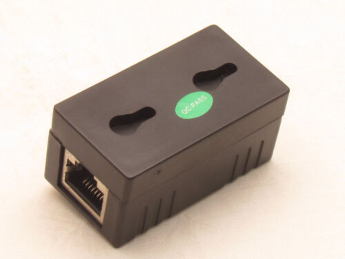 Black POE Injector Splitter over Ethernet Adapter For IP Camera LAN Network DC