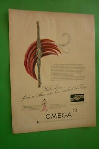1954-Original-Advertising-039-Watch-Omega-With-Love