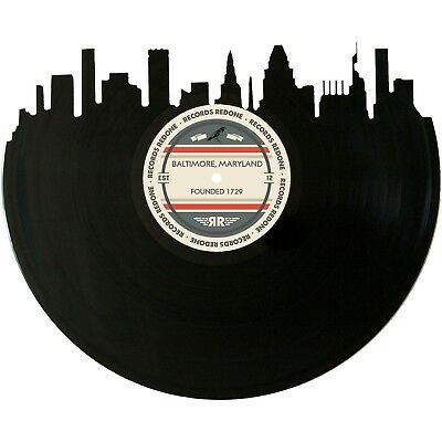 Baltimore Skyline Vinyl Record Art