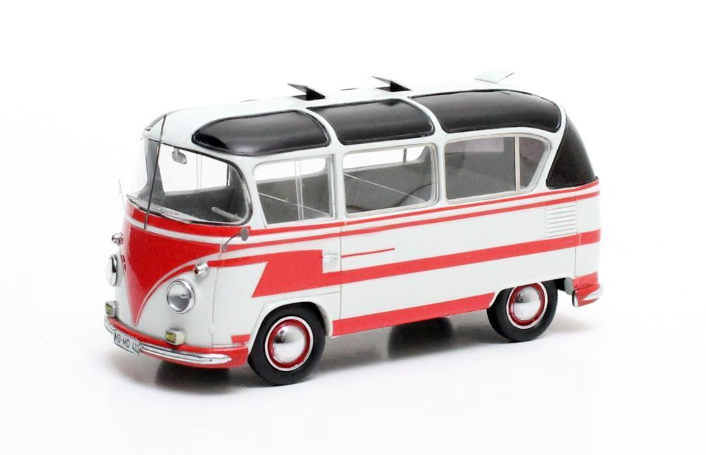 VW Auwärter T1 Carlux  rouge blanc  1963 (Matrix 1 43   MX42105-021)