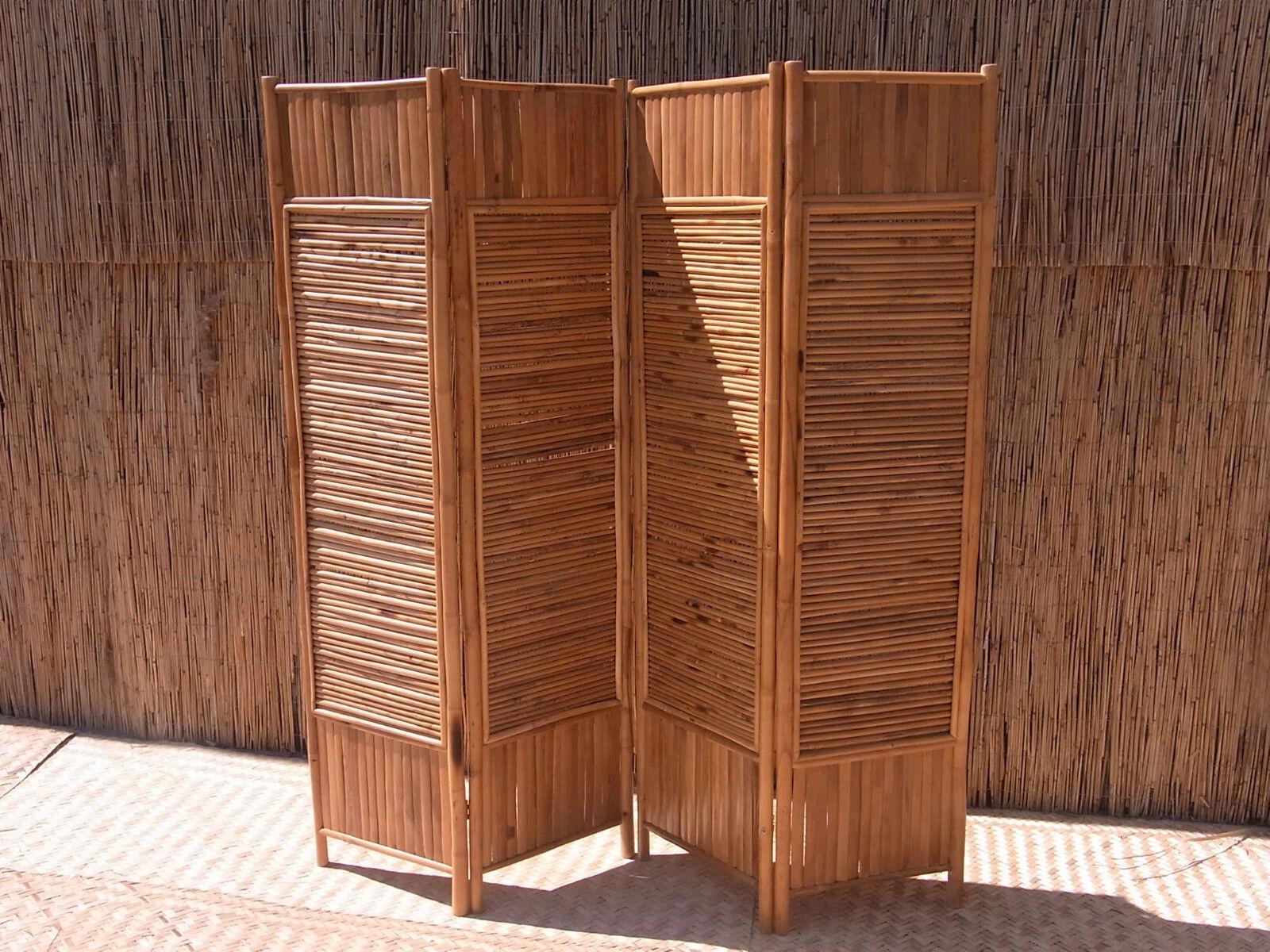 Bambusparavent spanische Wand Paravent Raumteiler Sichtschutz Sichtschutzwand 2