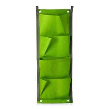 4 Pocket Green Vertical Indoor Outdoor Hang Wall Balcony Herb Garden  Planter Bag