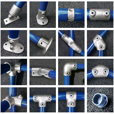 Interclamp Tube Clamp Pipe Clamp Key clamp 155 Slope Long Tee