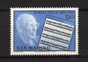 S27578) Dealer Stock San Marino 1980 MNH Robert Stolz 1v (X10 Sets)