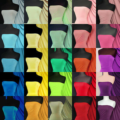 Silk Touch 4 Way Stretch Jersey Lycra Fabric Material- Q53 Red Blue Green Yellow
