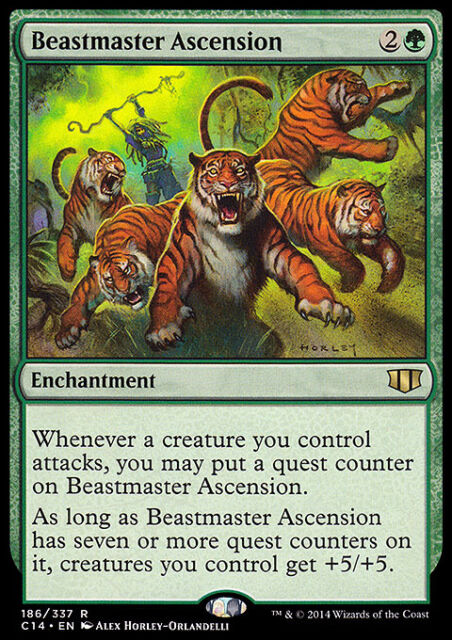 BEASTMASTER ASCENSION NM mtg  Commander 2014 Green - Enchantment Rare