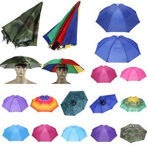 Sonnenschirm Hut Damen Herren Regenschirm Kappe Kopfbedeckung Anglerhut Outdoor