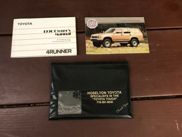 1990 Toyota 4runner Owners Manual Oem Free Shipping
