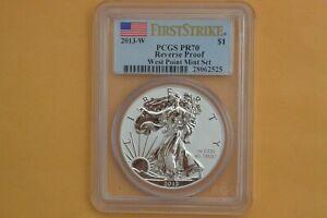 2013-W AMERICAN EAGLE PCGS PR70 REVERSE PROOF FS (Toning near top rim)