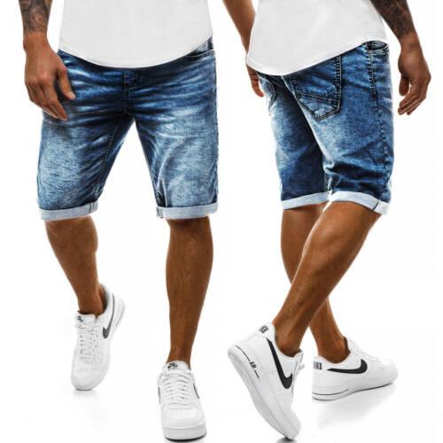 Pantaloni corto Shorts Pantaloni Jeans Bermuda Jeans Estate Tempo Libero OZONEE s//2660 Uomo
