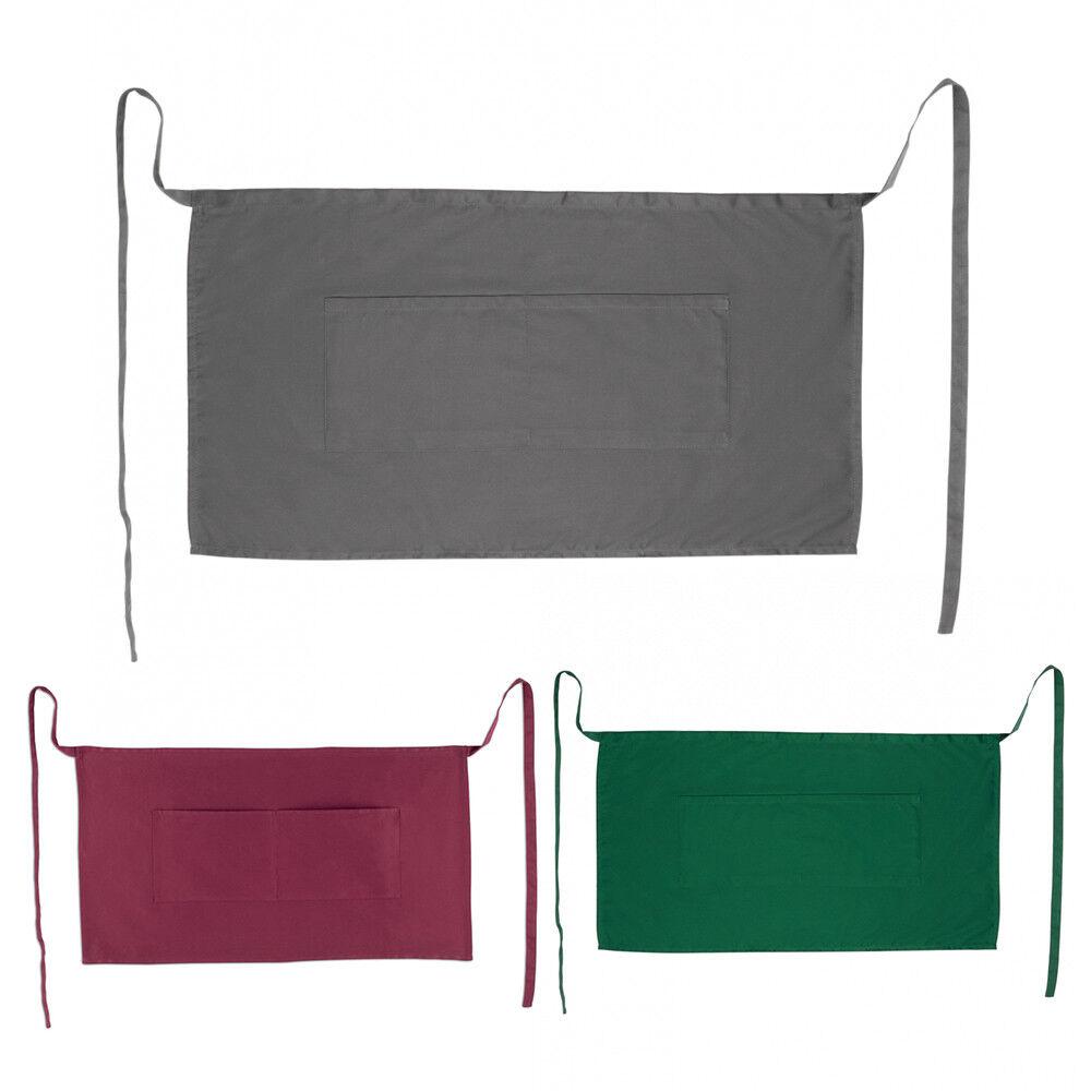 100 X Demi - 1 2 Taille BAR tablier poches 100% coton bistro serveur  per Tablier