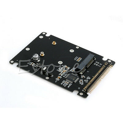 """2.5/"""" IDE 2.5/"""" PATA to 2.5/"""" half hight SATA SSD adapter card with case"""