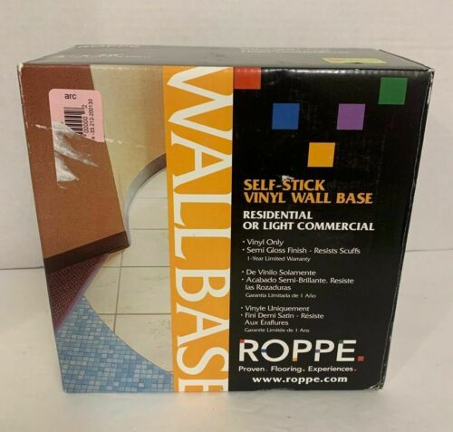 """4 Roppe Products Cove Wall Base Vinyl Adhesive Roll Snow White 4/"""" X20/' Case of 4"""