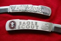 Eagle Scout Pocket Knife And Case Lockback Stainless Steel Official Bsa Licensed