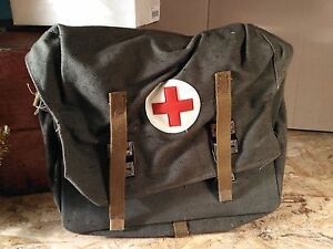 Image Is Loading Authentic Soviet Russian Army Medic Bag Case Red
