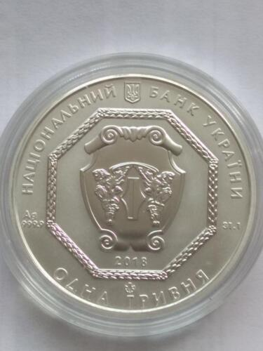 2018 UKRAINE ARCHANGEL MICHAEL 1 Oz 999.9 Pure Silver Investment coin UAH NEW