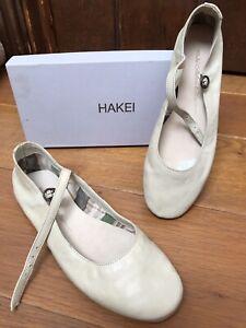 Detalles de Zapatos planos para mujer Hakei Crema Tamaño 39 ver título original