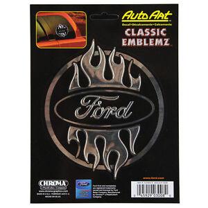 original ford pflaume flammen tribal emblem aufkleber. Black Bedroom Furniture Sets. Home Design Ideas