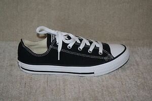 YOUTH BOYS/GIRLS BLACK AND WHITE CONVERSE ALL STAR-SEE LISTING FOR SIZES (237)