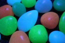Glow in the Dark Assorted Multi Color Pebbles, Aquarium, Pathways, 16pcs