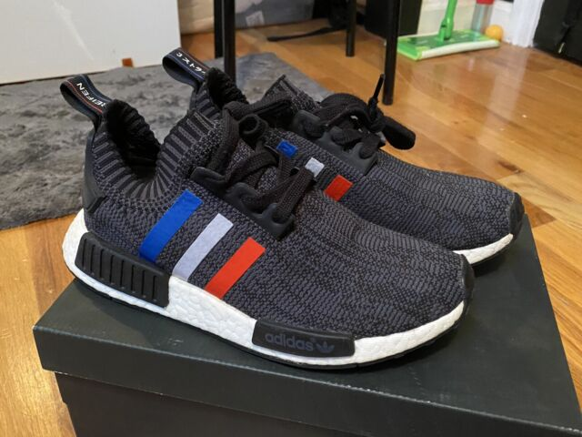 Adidas NMD R1 Tri Color Colore Primeknit Boost Red White Blue Size 6