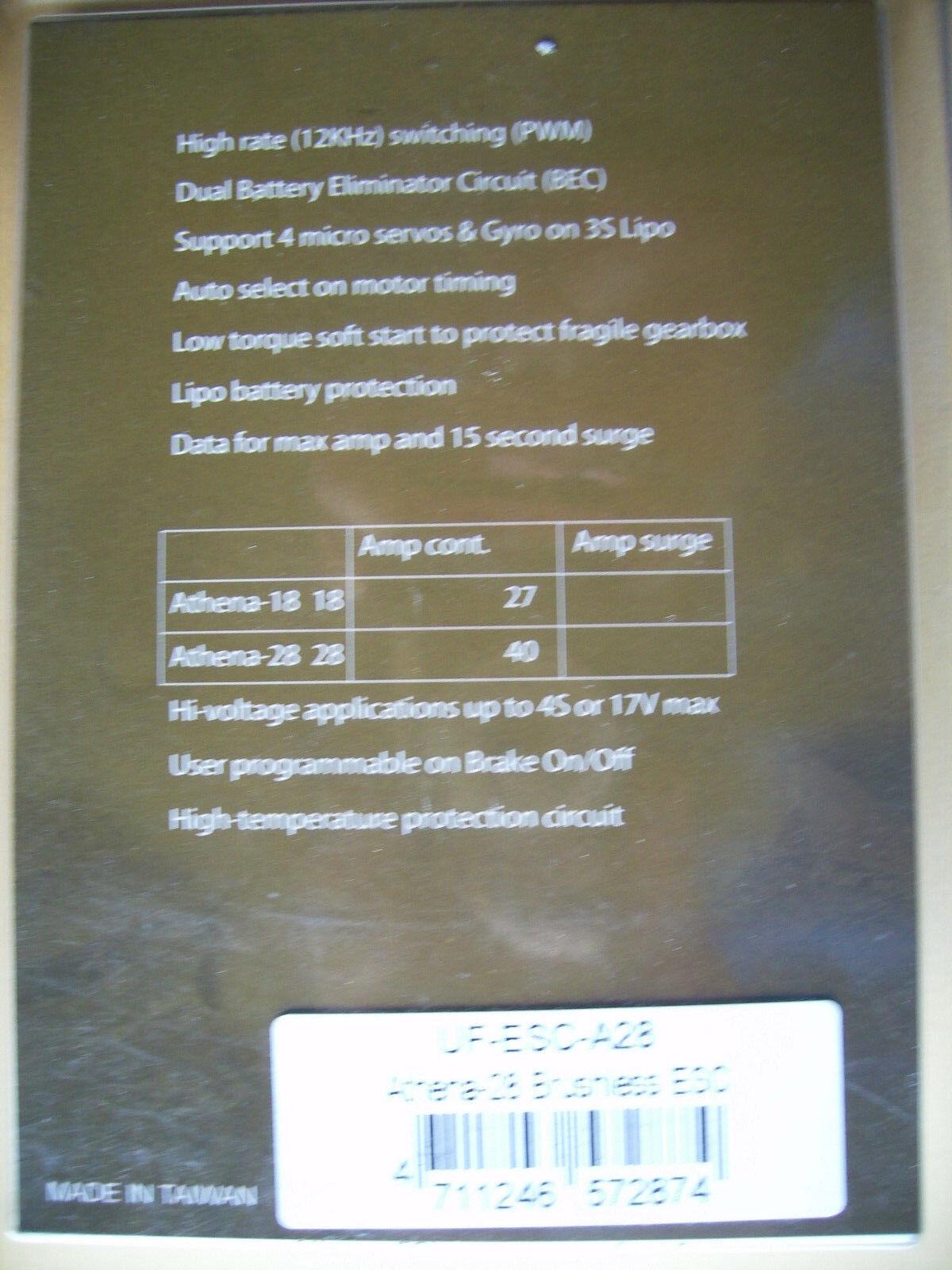 Ultrafly Models Athena 28 Brushless Regler    Hervorragende Eigenschaften  Eigenschaften  Eigenschaften  93bd6e