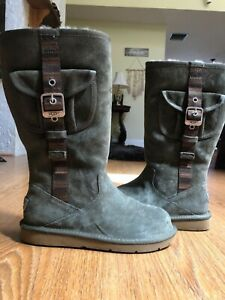 olive green uggs mini