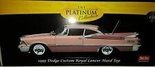 1959 DODGE CUSTOM ROYAL LANCER Diecast 10inch SUNSTAR 1:18 PLATINUM SS PINK