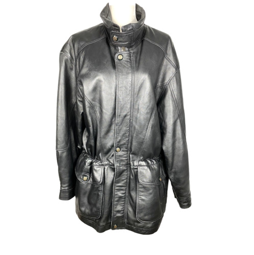 Leather Jacket, Members Only, Vintage Clothing, 80