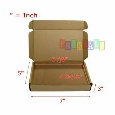 100 7x5x3 Easy Shipping Tapeless Packing Mailing Moving Boxes Corrugated Carton