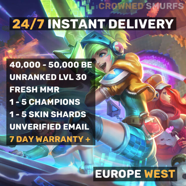 League of Legends Account LOL EUW 20000 20k IP Be Smurf ...