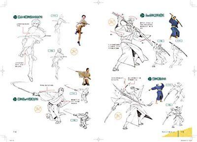 How to Draw Manga Anime Samurai Ninja Wasou Fighting Action Pose Book Art Japan