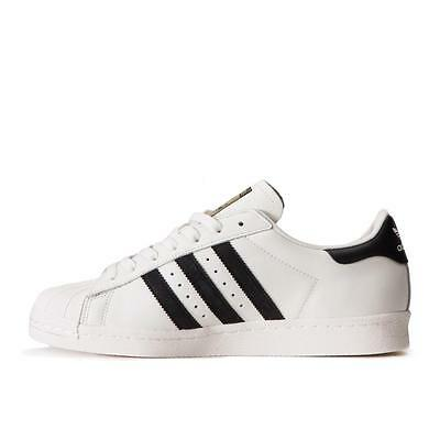 Adidas Originals Men Superstar 80s DLX Sneakers Shoes Off-White Black B25963 NEW