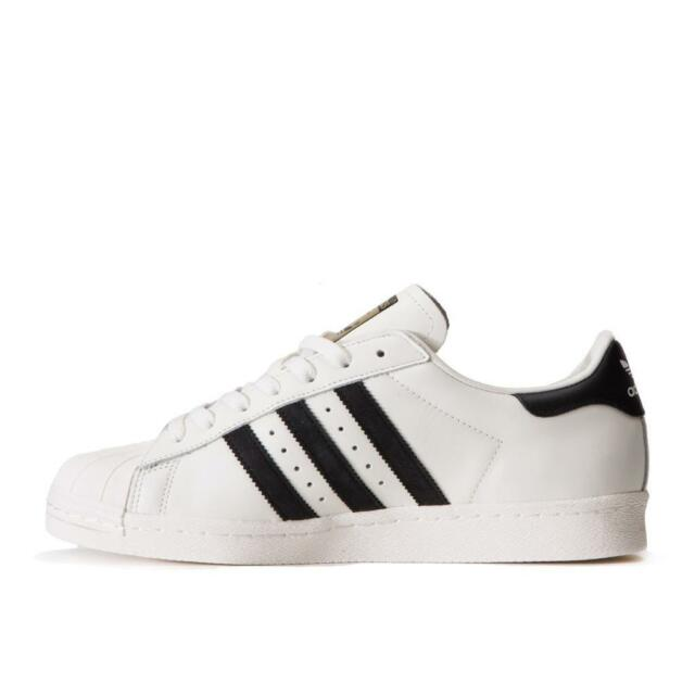Adidas Originals Men Superstar 80s DLX Sneakers Shoes Off-White Black B25963 NEW