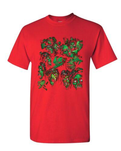 Zombie Pile T-Shirt Undead Rising Zombie Apocalypse Outbreak Mens Tee Shirt