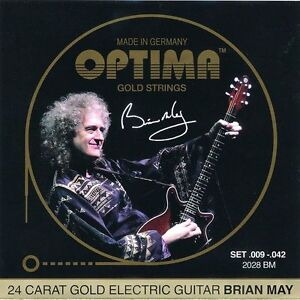 Confiant Optima Gold Cordes Pour Guitare électrique | Brian May Custom Set | 009 - 042 | 2028 Bm-afficher Le Titre D'origine