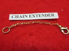 1 INCH 14KT GOLD EP  2MM FIGARO CHAIN  EXTENDER FOR FINE CHAINS
