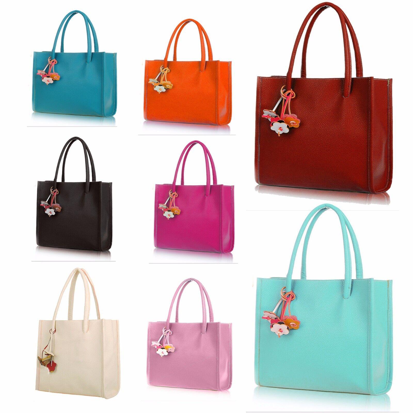 2fc157bd2c7e Details about Vincenza Designer Large Womens Faux Leather Shoulder Grab Bag  Style Summer Tote