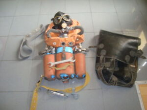Able Rare Soviet Russian Diving Rebreather Ida-59 Water Sports Diving Helmets