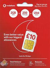 Vodafone Pay as You Go SIM Card Official 4g Nano Micro SIM 3 in 1