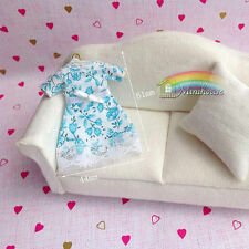 1:12 dollhouse accessories, doll accessories blue dress clothes