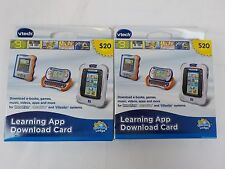 Lot 2 NEW NIB Vtech Innotab Learning Apps Tablet Games DOWNLOAD CARDS $40 MOBIGO