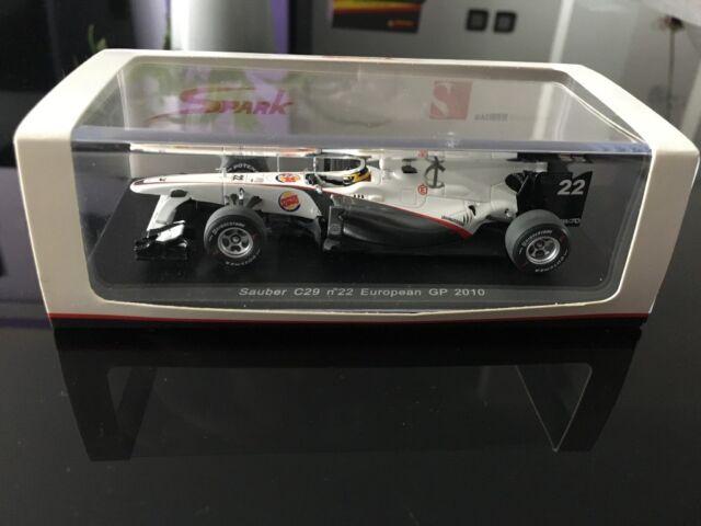 Spark 1/43 Sauber C29 N°22 European GP 2010 Pedro De La Rosa