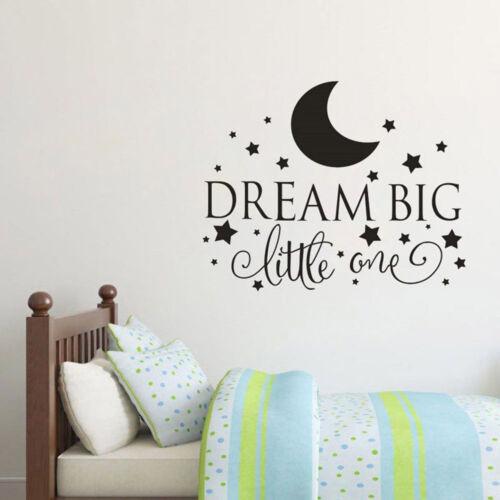 Dream Big Petit Autocollant Mural Decal Pépinière chambre garçon Baby Kids decor