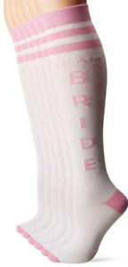 6-Pairs-Team-Bride-Wedding-Bachelorette-Bridesmaids-Novelty-Knee-High-Socks