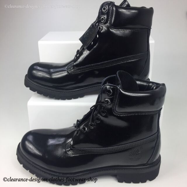 9d56eda4a886 TIMBERLAND 6 INCH PREMIUM BOOTS GLOSS BLACK MENS SPECIAL EDITION SHOES RRP  £180
