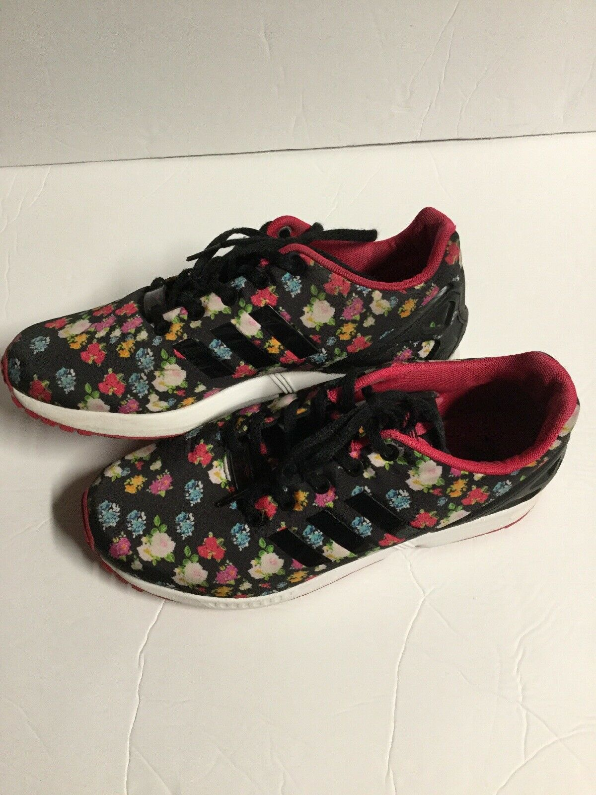Adidas Torsion Sneakers Women's Size 7 ZX Flux Floral Multi color Sneakers.U27