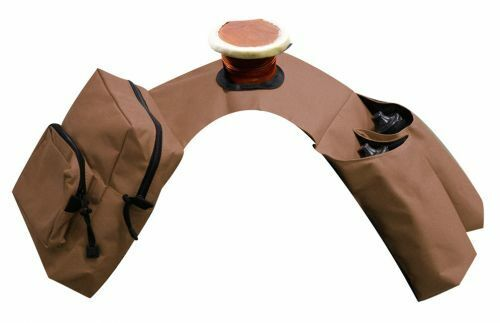 Brown Nylon Selle Western Trail Horn Sac Avec Poches /& Isolé Bouteille Porte